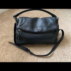Kate Spade's classic black leather Bag